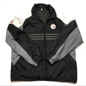 Steelers Windbreaker Jacket Sz Large
